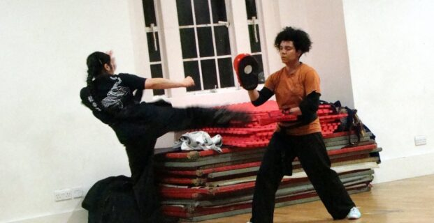 Turning Kick With Focus Mitt